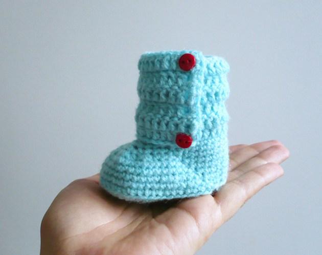 bottines prématuré bébé crochet