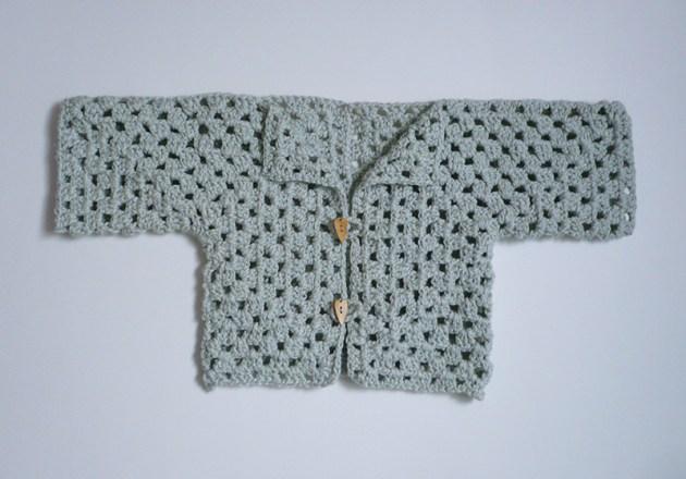shrug coton crochet bébé
