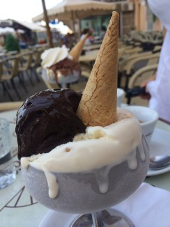 Chocolate fondant gelato at gelateria Mennella was the perfection itself
