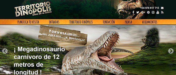 Página web de Territorio Dinópolis