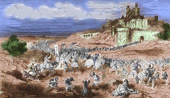 Toma de Béziers por los cruzados durante la cruzada albigesa – Paul Lehugeur (s.XIX).