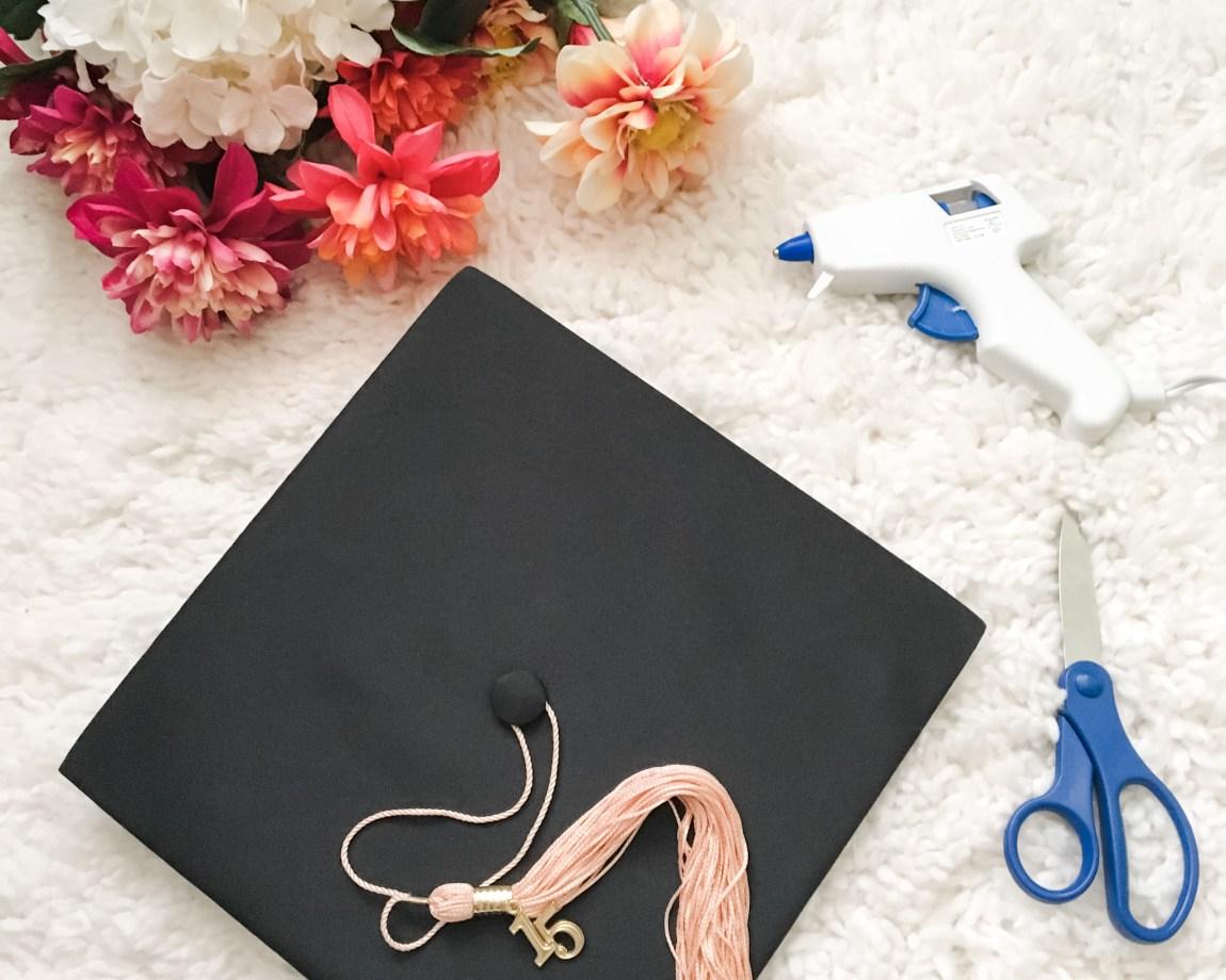 DIY Floral Graduation Cap