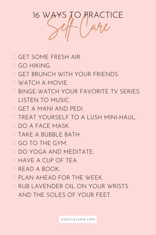 16 Ways to Practice Self-Care