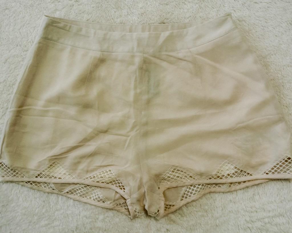 Kimchi Blue Cut-Out Mesh Shorts