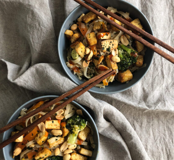 Easy Peasy Pad Thai with Tofu