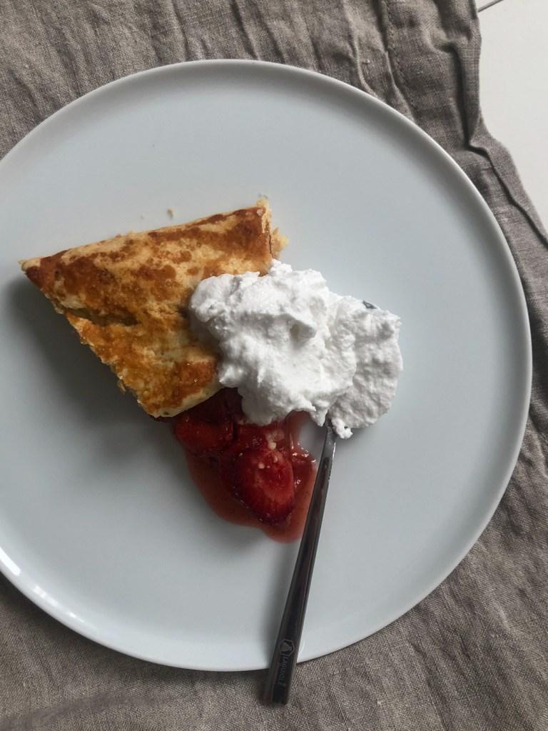 strawberry almond galette