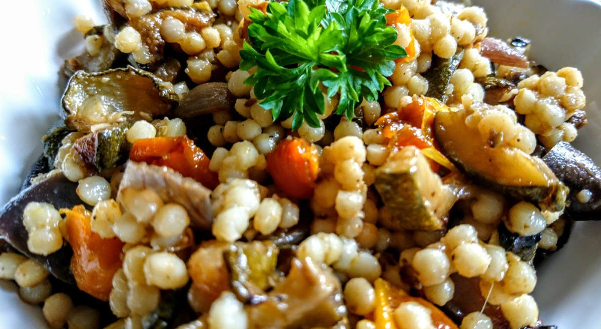 Giant Cous Cous with Mediterranean Veggies
