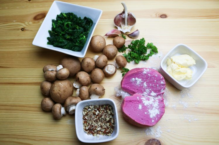ingredients for Beetroot Tagliatelle with Mushroom Ragu
