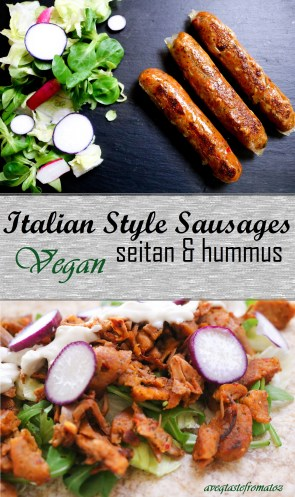 Italian Style Vegan Sausages pintrest