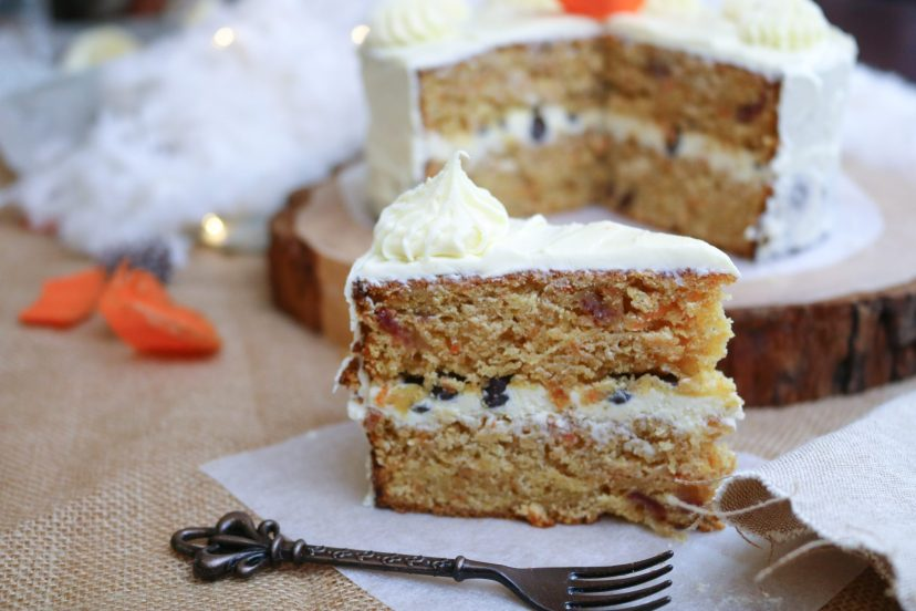 slice of vegan carrot cake