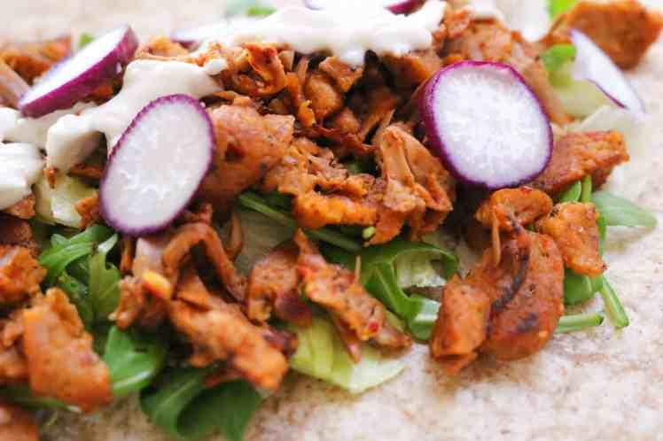 piadina con kebab vegan