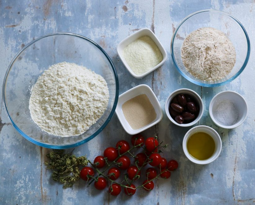 ingredients for Classic Focaccia Barese