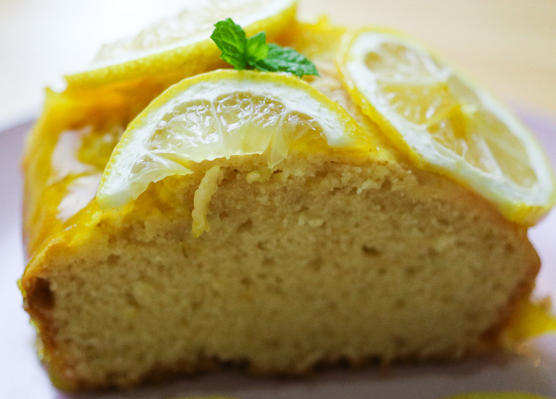 zesty lemon cake slice details