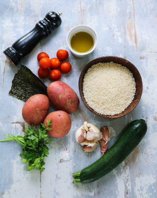 ingredienti per Patate, Riso e Alghe