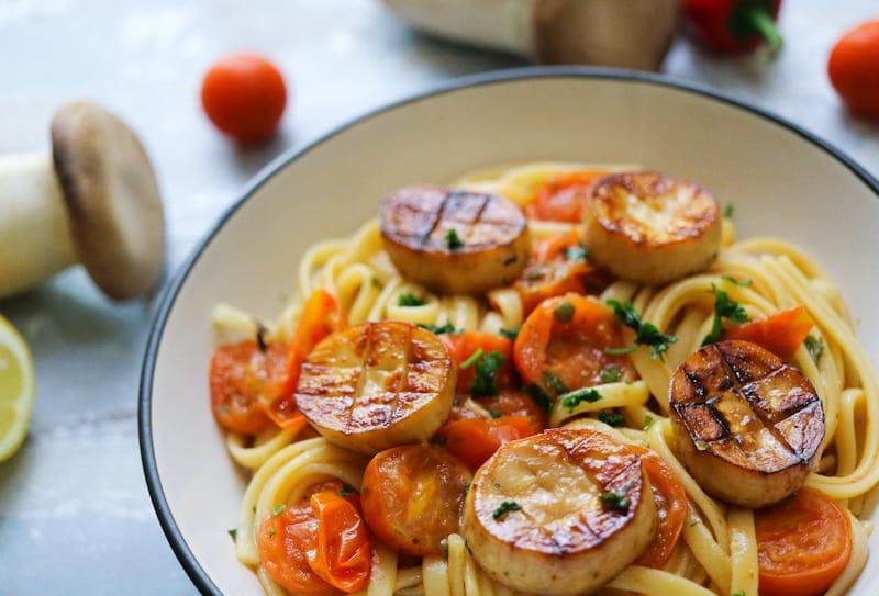 Vegan Simple Seafood Pasta