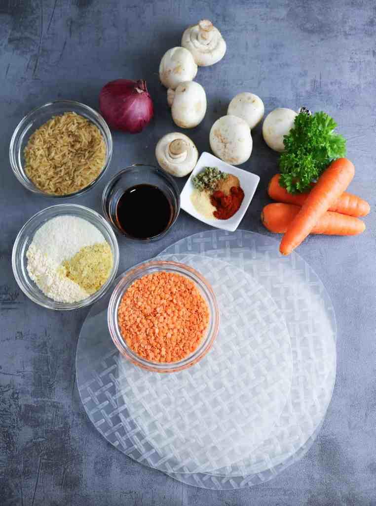 ingredienti per salsicce vegan senza glutine