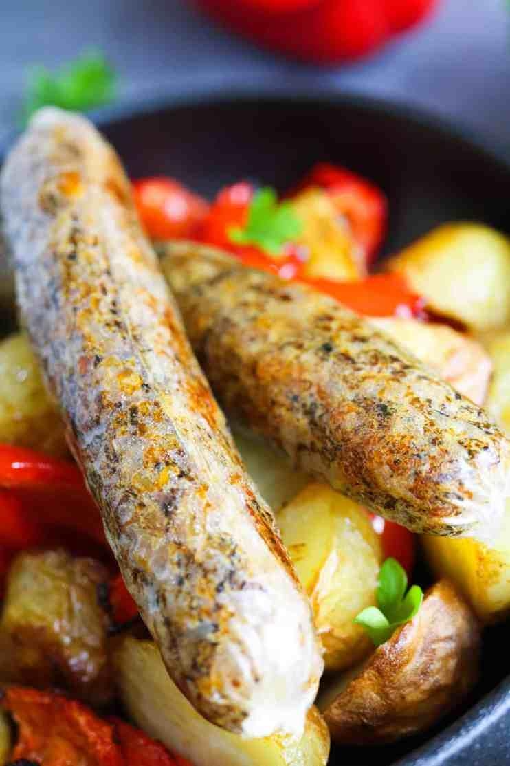 dettaglio salsicce vegan senza glutine