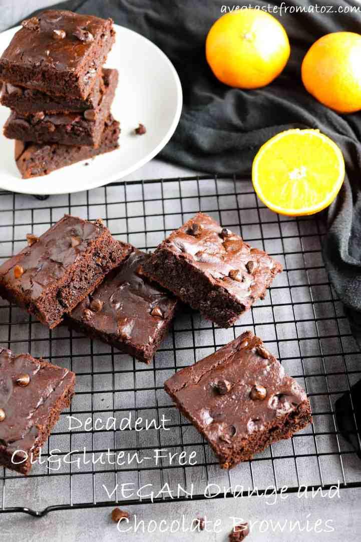 brownie cioccolato arancia oil free
