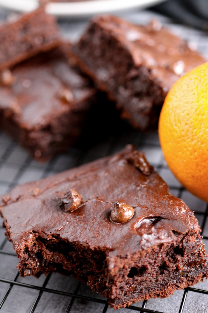 morso brownie cioccolato arancia oil free