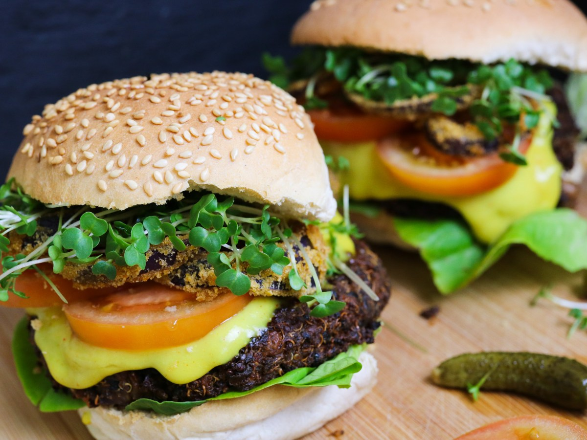 Quinoa And Mushroom Burgers Gf A Veg Taste From A To Z