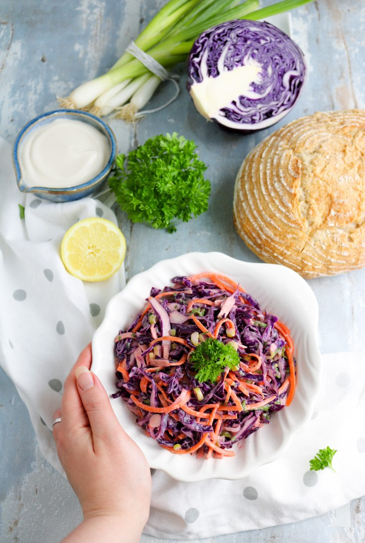 Light Coleslaw Salad ingredients
