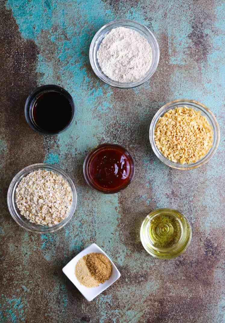 ingredients for easy vegan burgers
