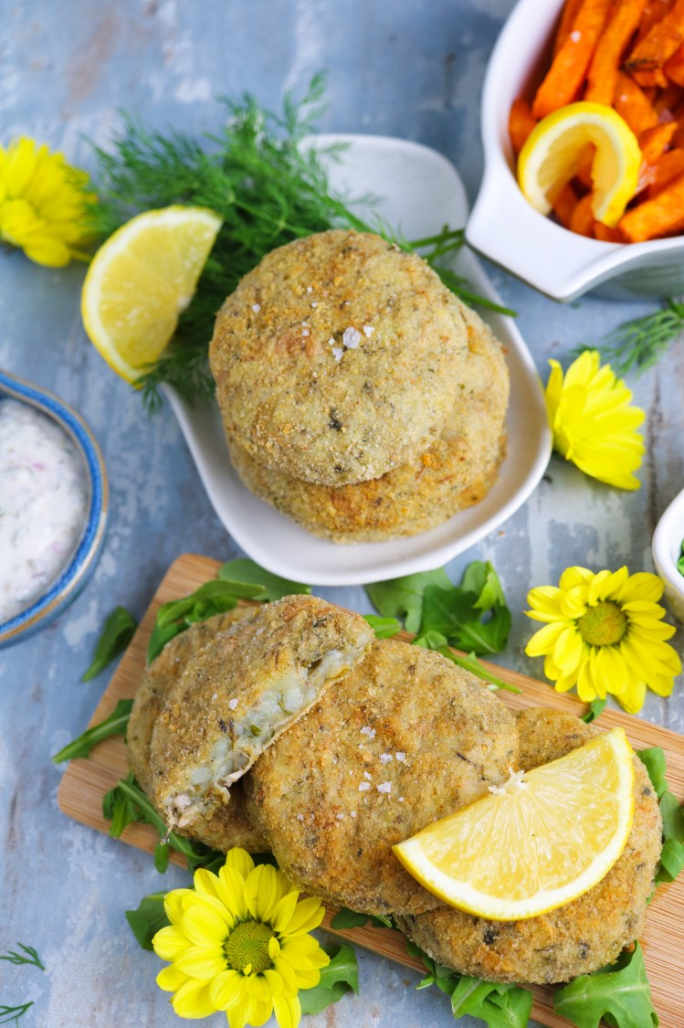 Banana Blossom Fish Cakes finished product close up