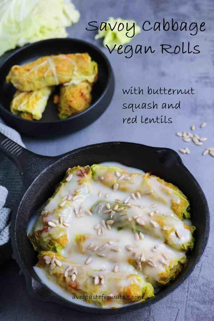 involtini verza zucca lenticchie immagine per pinterest