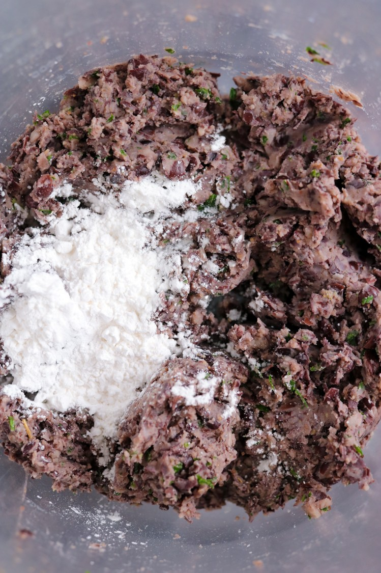 meatball mixture with tapioca starch