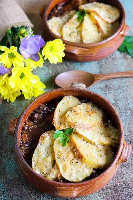 Pie di Lenticchie e Zucca servito