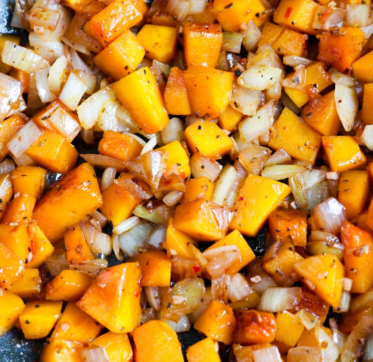caramelized squash and onions