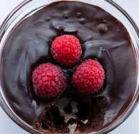mousse cioccolato lamponi vegan