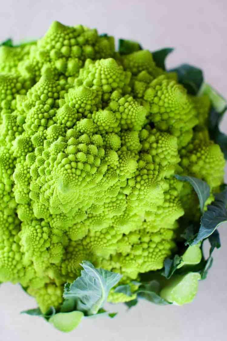dettaglio broccolo romanesco