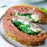 Cheesy Oozing Vegan Meatloaf