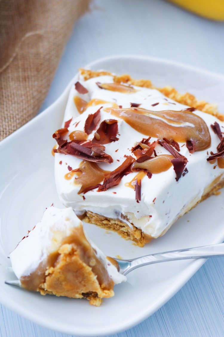 Decadent Vegan Banoffee Pie bite