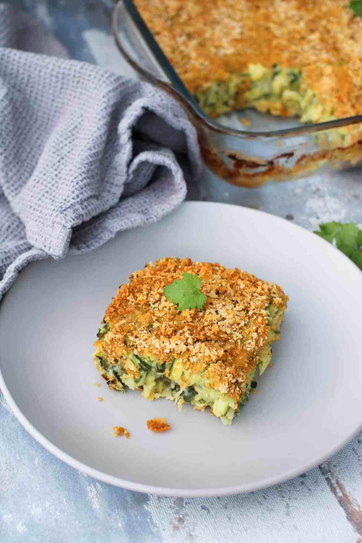 """Facilissima """"Frittata"""" Vegan di Zucchine al Forno"""