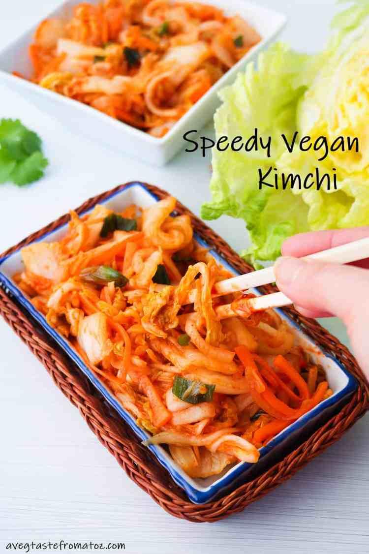 speedy vegan kimchi image for pinterest