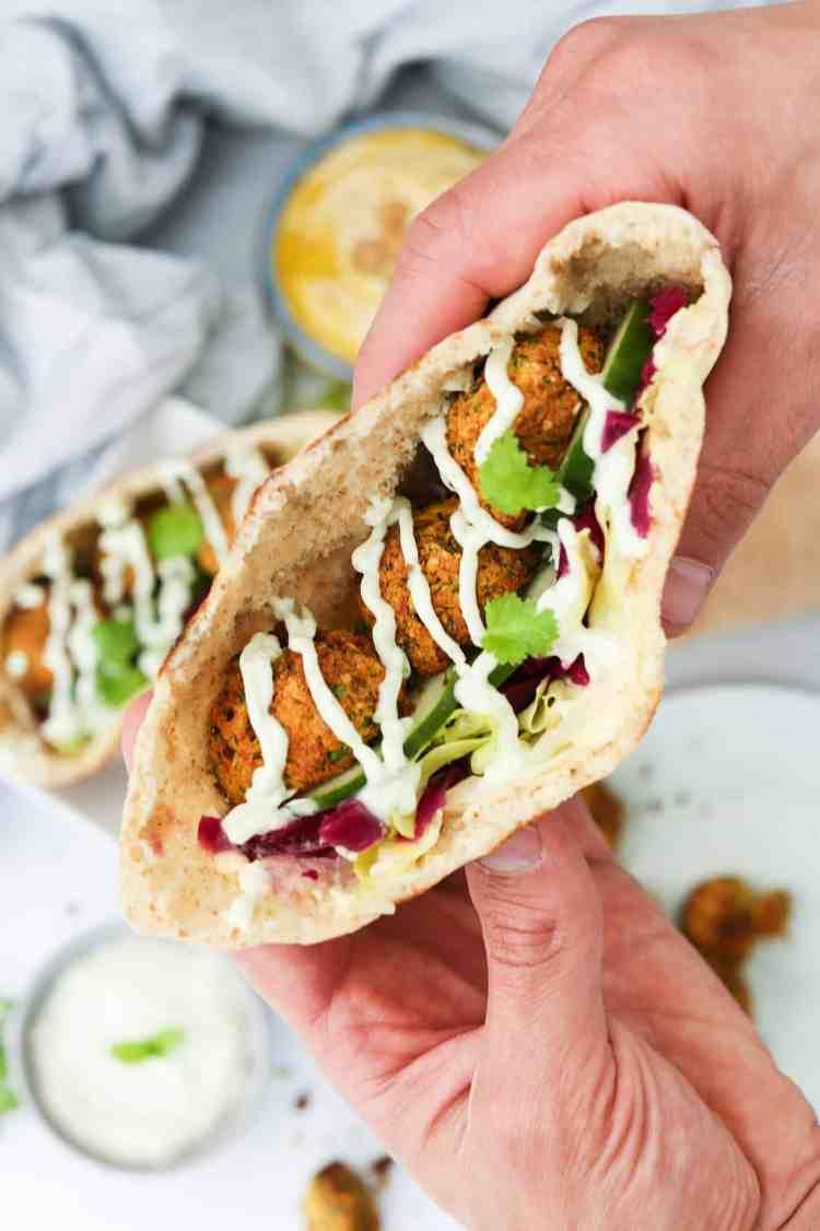 Falafel con Patata Dolce | Friggitrice ad Aria nella pita