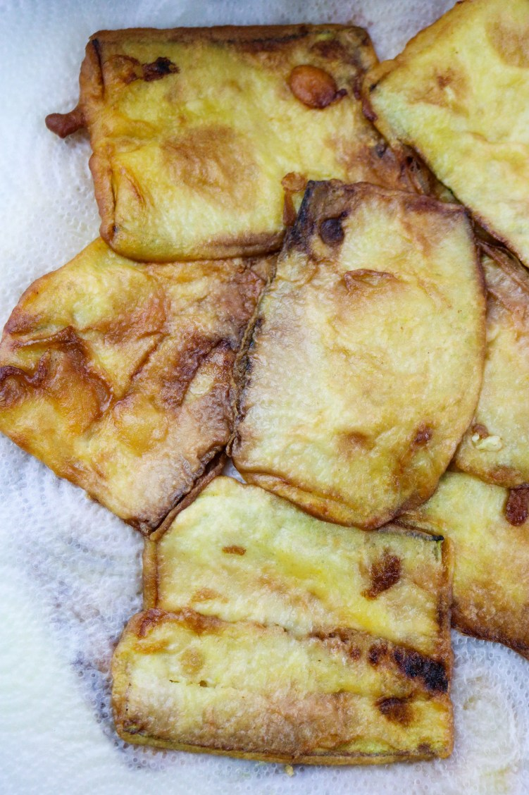 deep fried zucchini slices
