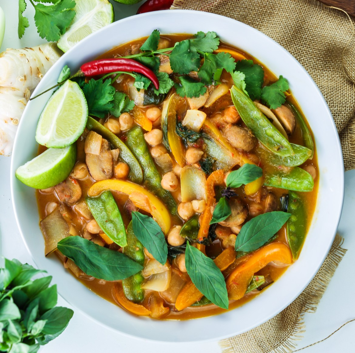 Vegan Thai Red Curry with Chickpeas