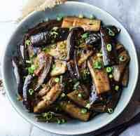 melanzane cinesi all'aglio e peperoncino