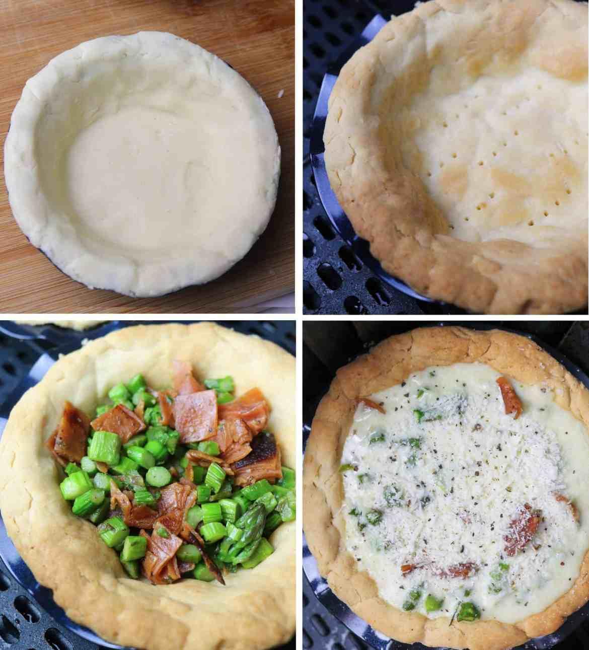 steps to make mini Vegan Ham and Asparagus tart