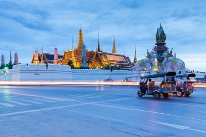 Tuk-Tuk ( Motorikshaw ) near Grand Palace, Bangkok, Thailand.