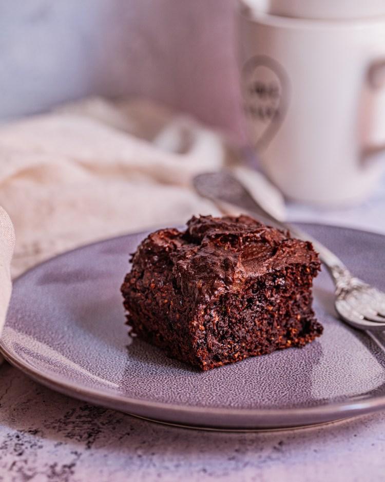 Tarta saludable de chocolate y calabacín