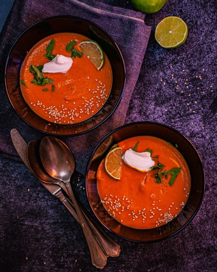Crema de calabaza al curry