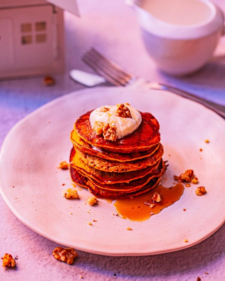 Tortitas de calabaza saludables: desayuno real food
