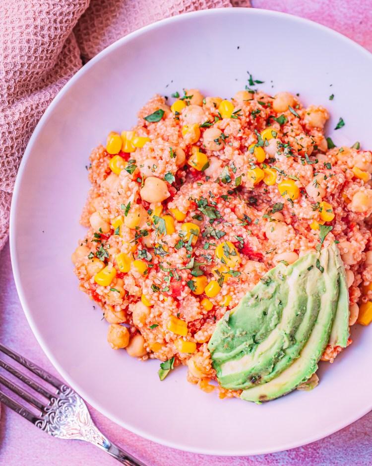 Quinoa con garbanzos a la mexicana