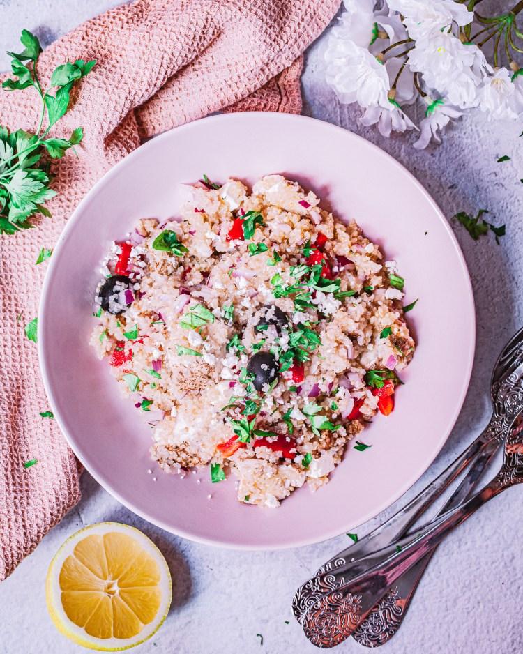 Ensalada mediterránea de quinoa