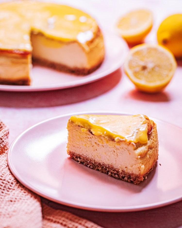 Cheesecake de limón saludable