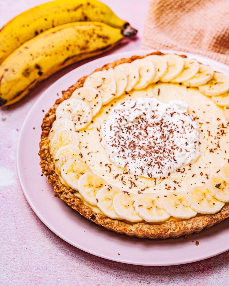 Tarta de plátano sin azúcar: receta fácil